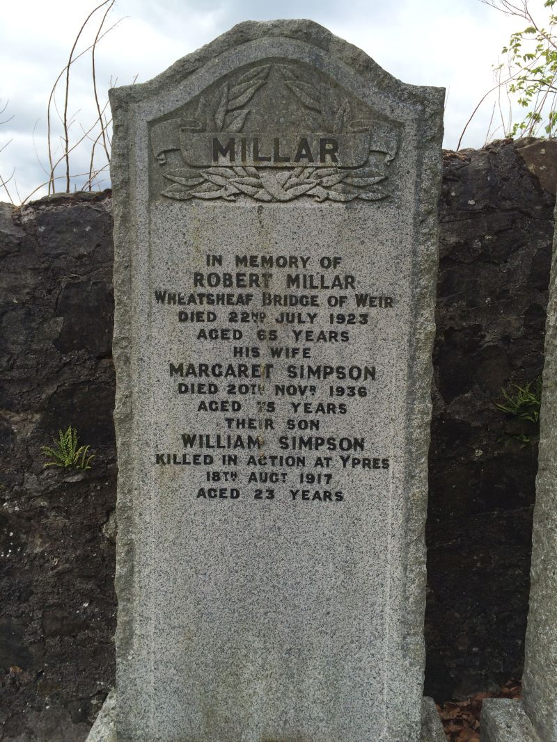 William Millar Kilbarchan memorial